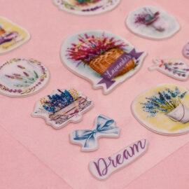 Наклейки пластиковые «Лавандовые мечты»