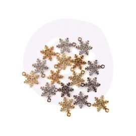 Металлические подвески «Snowflakes»