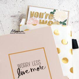 Пакет бумажный фасовочный — Gold Foil Polka Dot