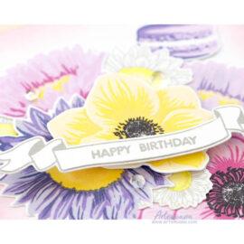 Открытка ручной работы «Happy Birthday»