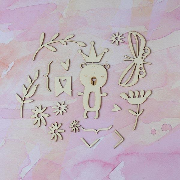 Набор чипборда «Принцесса была прекрасная»