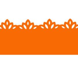 Фигурный дырокол для декора края «Цветы», 4.5 см